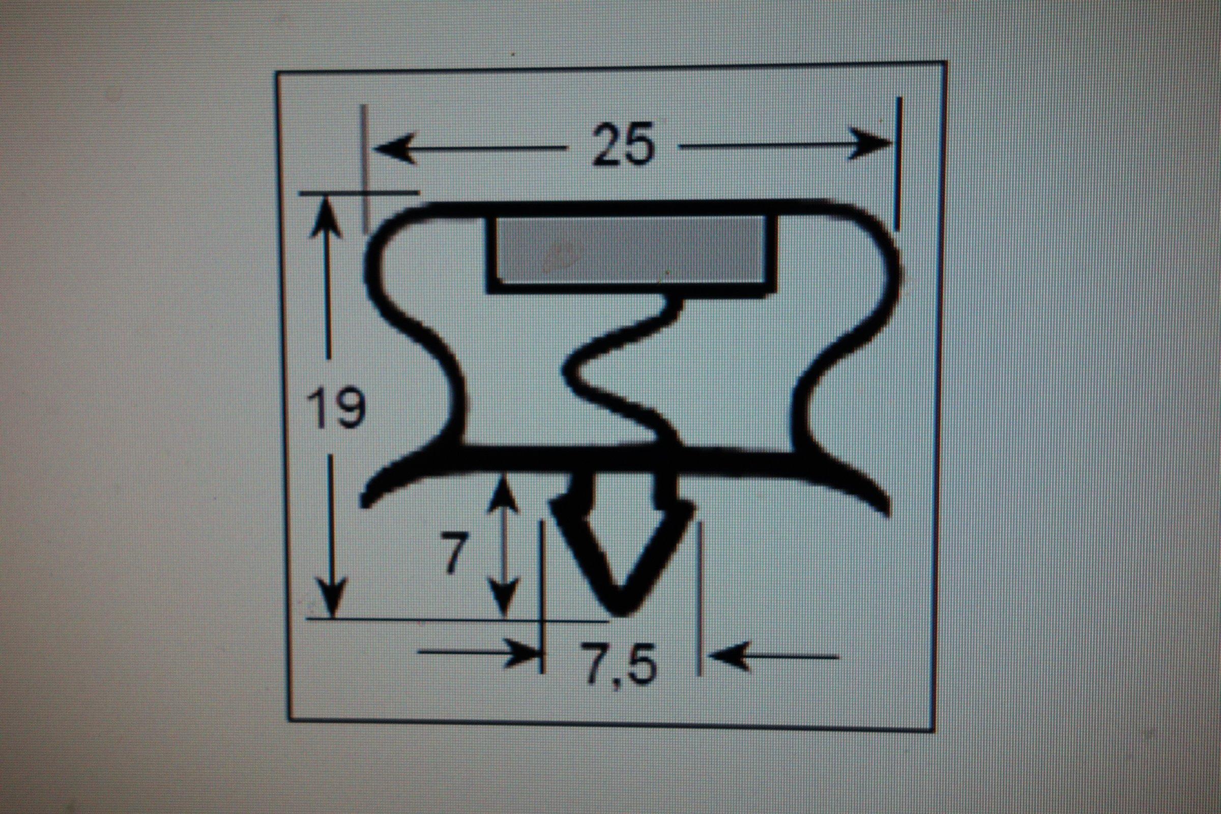 Türdichtung NEU Magnet Dichtung Magnetdichtung für  -> Kühlschrank Dichtung