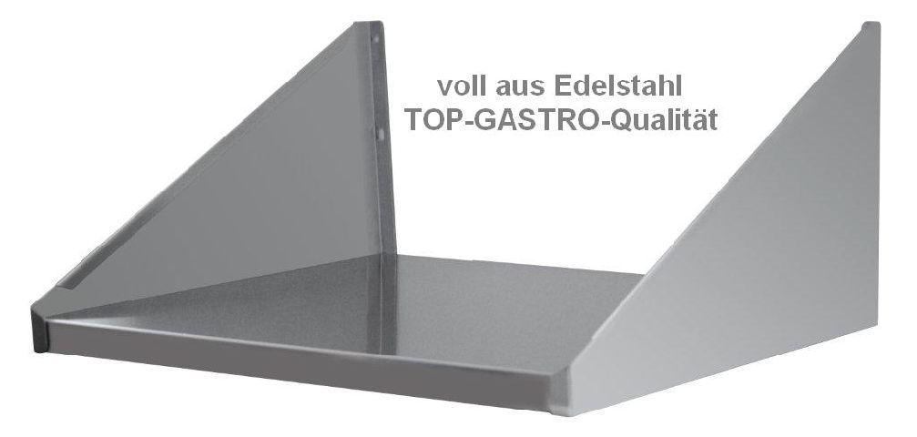 wandbord regal 60x50 cm edelstahl 600x500 mm cns. Black Bedroom Furniture Sets. Home Design Ideas