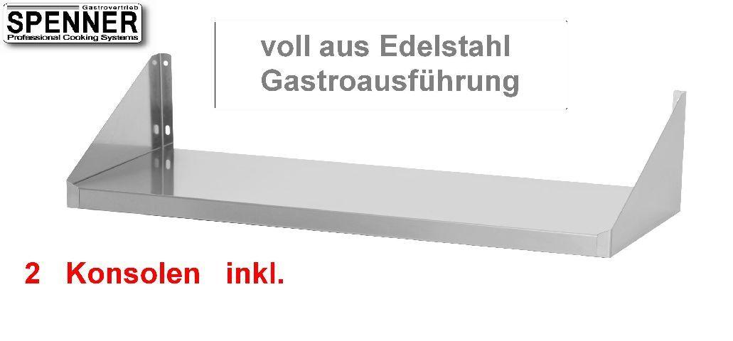 wandbord regal 100x20 cm edelstahl 1000x200 mmcns. Black Bedroom Furniture Sets. Home Design Ideas
